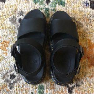 Barely worn Dr. Marten Black strap Sandals